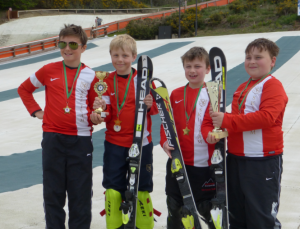 Lower school ski team photo